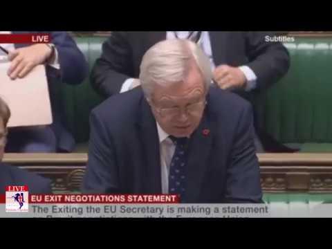 David Davis MP - Announcement Of NEW Brexit Bill