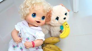 Baby Alive uma Banana para o Cachorrinho DOG com BIA LOBO