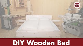 vuclip DIY Wooden Bed, made with FELDER® woodworking machines