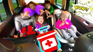 Five Kids Children's Songs in the car
