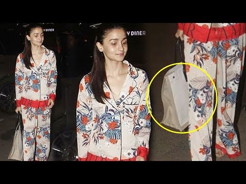 Alia Bhatt Wears MOST EXPENSIVE Night Suit At Airport