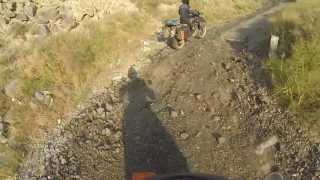 Armenia mountain road KTM 690 and Yamaha XT 660R