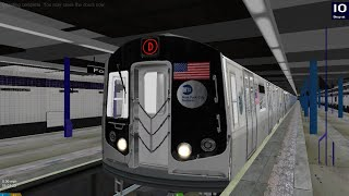 OpenBVE HD: Operate NYC Subway R160 Siemens D Train (205 St to Coney Island.) via Concourse Express