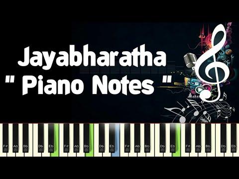 Jayabharatha Full (Naada Geethe) Piano Notes, Midi, Karaoke