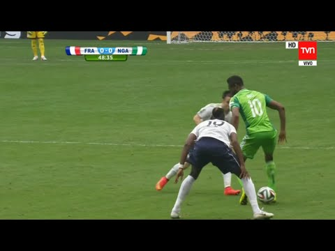John Obi Mikel amazing nutmeg vs France  - HD