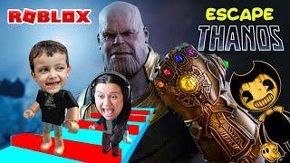 Roblox- Rodrigo Thanos vs Mamãe Bendy (Escape Thanos Obby)