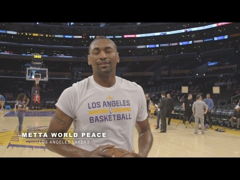 Blind Free Throw with L.A. Lakers Metta World Peace (Ron Artest ... 83785fee2