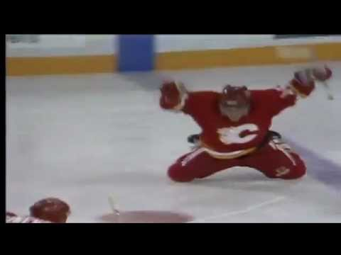 Theo Fleury OT Goal Game 6 1991 Playoffs Smythe Division Semi-Finals