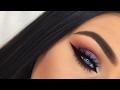 Dramatic Orange Purple Colorful Smokey Arab Cat Eyes Makeup Tutorial