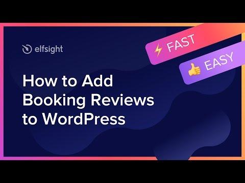 Как добавить Booking отзывы на WordPress (2020)