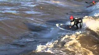 Stand up paddle surfing the Colorado River 2011