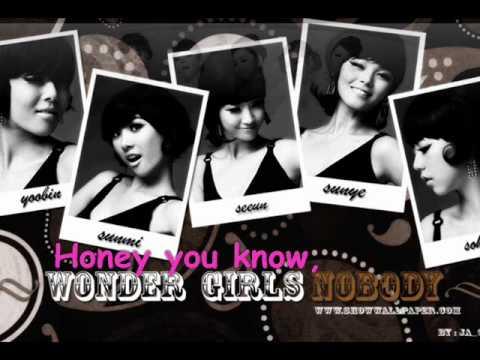 Wonder girls Nobody rainstone english version+Lyrics