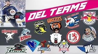 Alle DEL Teams, Trikots und Spielerstärken | NHL 17 #002