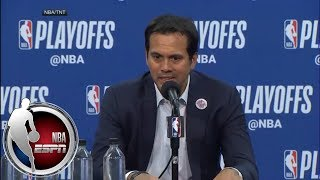 [FULL] Heat coach Erik Spoelstra: 'I saw moments, and that's what defines Dwyane Wade' | NBA on ESPN thumbnail