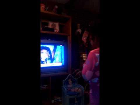 Kaylee singing Wii Sing 4.....