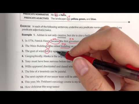 predicate nominatives and predicate adjectives youtube