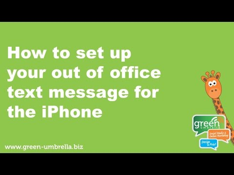 How To Send Out Of Office SMS Text Message On The IPhone Video