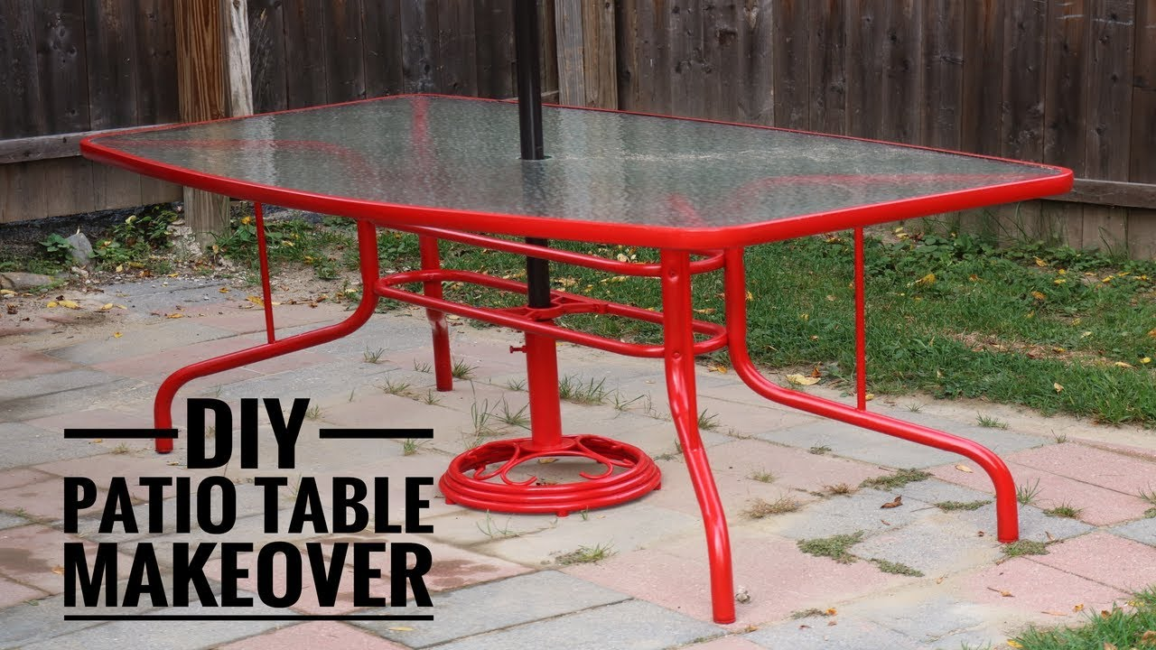 DIY Patio Table Makeover - YouTube