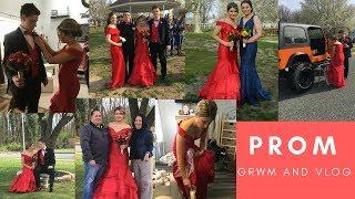 Prom GRWM And Vlog 2018 / I Won Prom Princess // Camsglam