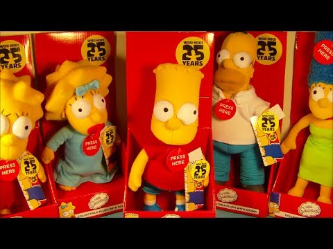 THE SIMPSONS 25th ANNIVERSARY COMPLETE SET OF 5 ELECTRONIC TALKING PLUSH DOLLS VIDEO REVIEW - 동영상
