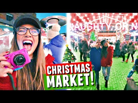TORONTO CHRISTMAS MARKET! Shopping, Decorations & Apple Cider | Vlogmas Day 6