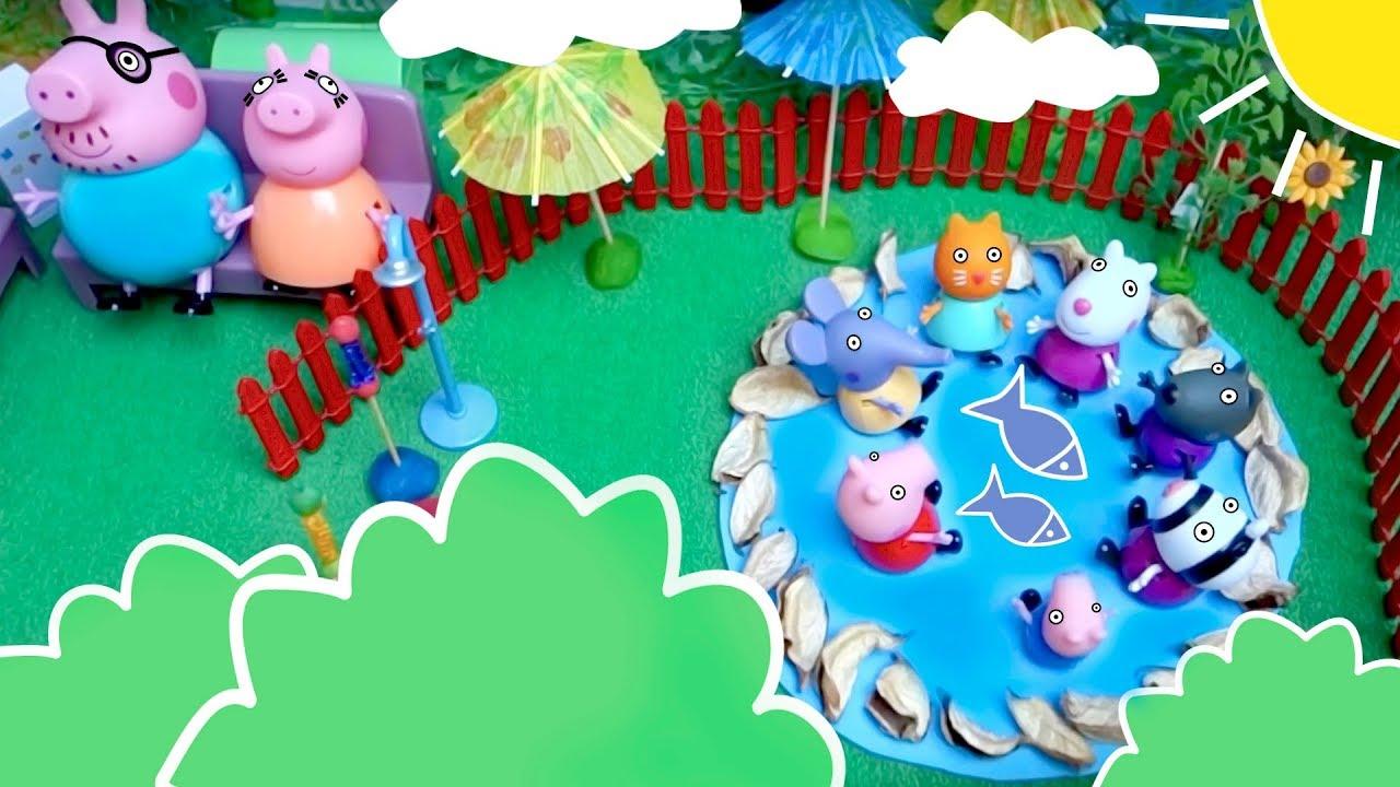 Familia Peppa Pig  🐽 en el lago 🏖☀