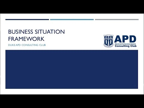 Case Practice Lecture 3: The Business Situation Framework