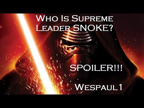 Star Wars Who is Supreme Leader Snoke