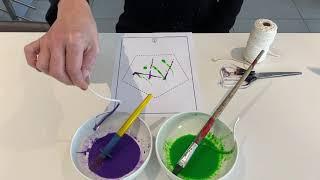 String Painting for Children