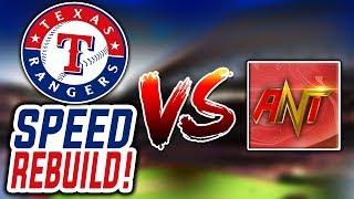 TEXAS RANGERS SPEED REBUILD VS TheAntOrtiz! | MLB The Show 19 Franchise
