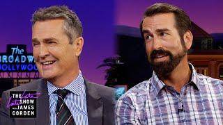 Rob Riggle & Rupert Everett Took a While to Become Tall