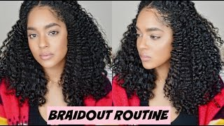 how to braid out routine on blown out hair