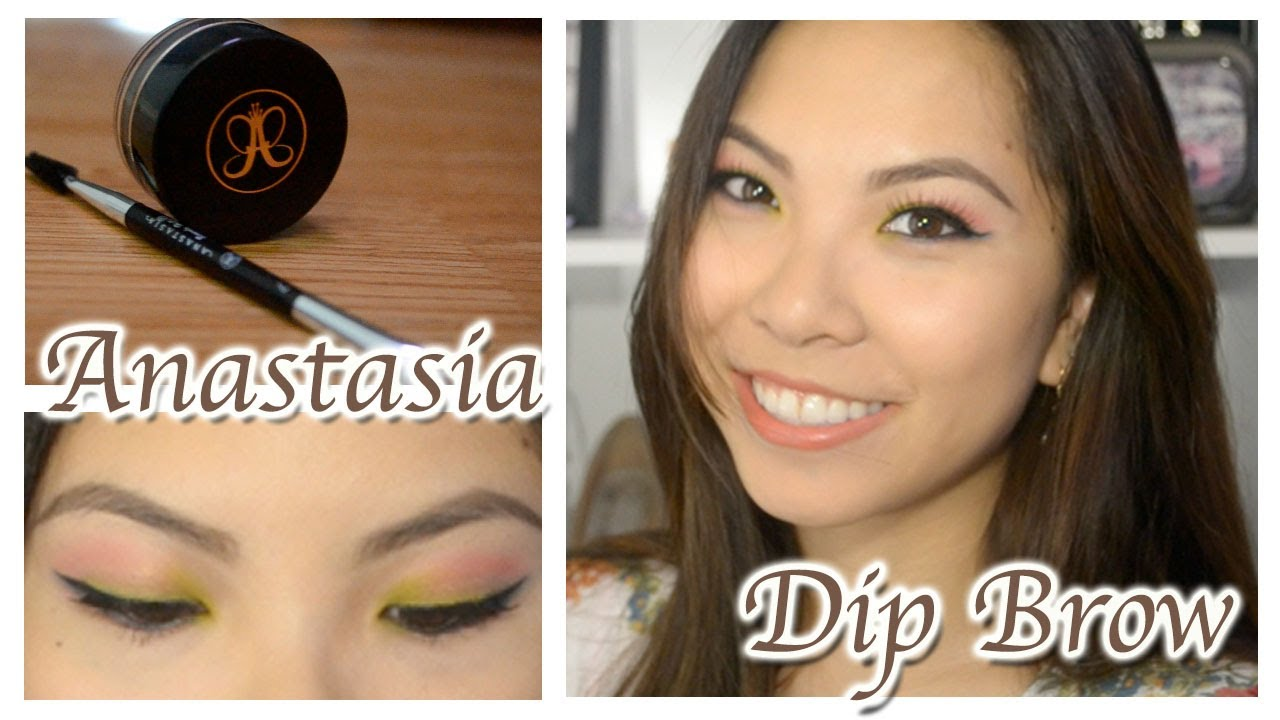 Anastasia Dip Brow Pomade Review And Demo Natural Youtube