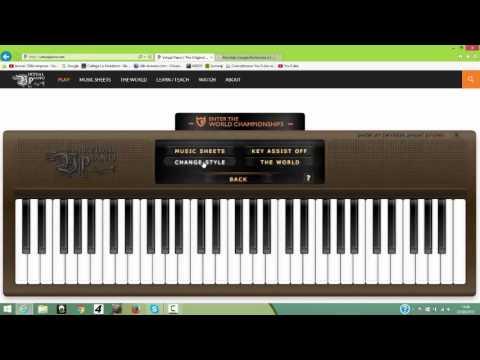 comment jouer du piano avec son clavier d 39 ordinateur youtube. Black Bedroom Furniture Sets. Home Design Ideas
