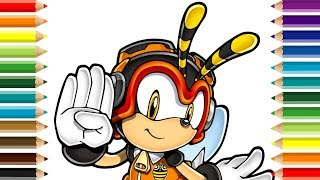 Charmy Bee Sonic Coloring Pages for Kids
