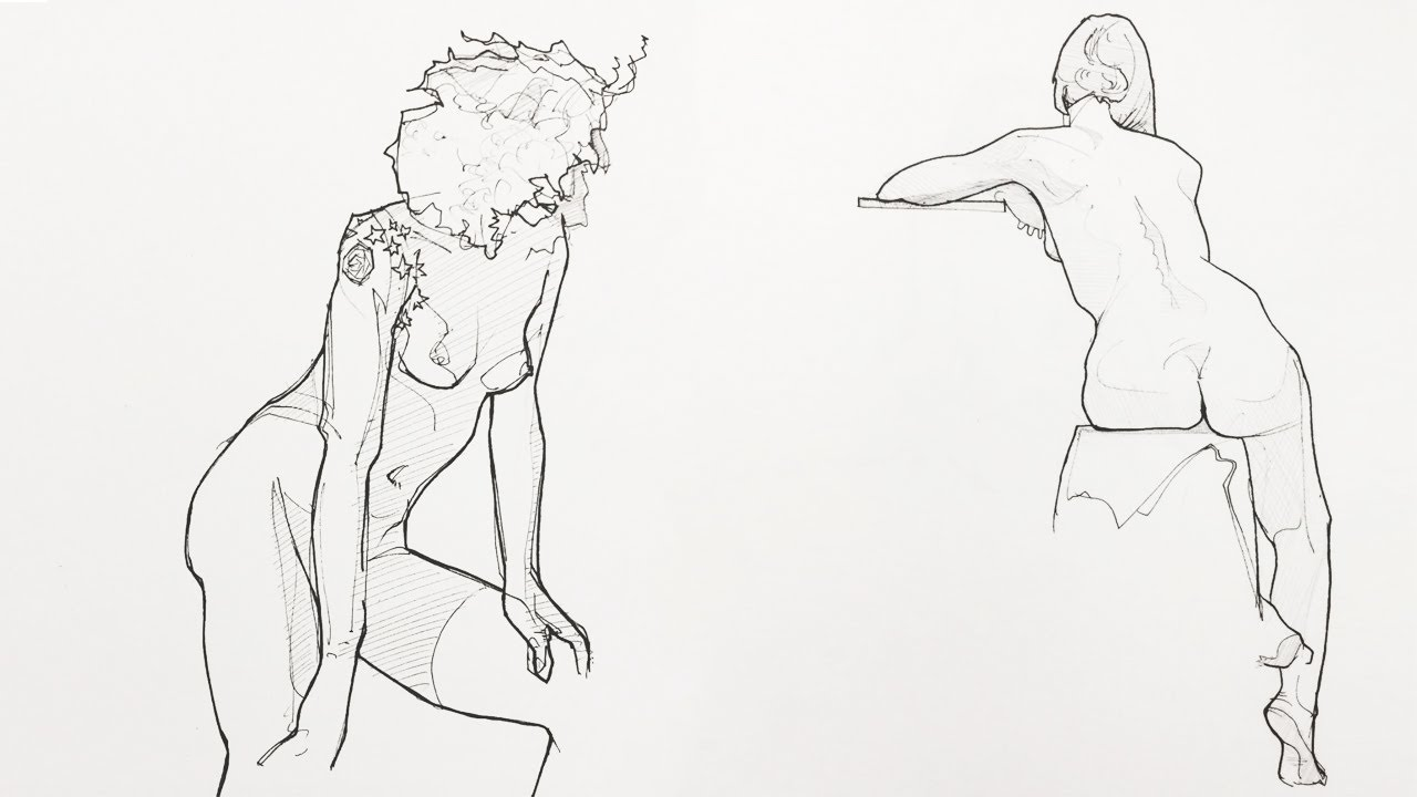 How to draw figures like chris glib pen contour hatching love life drawing