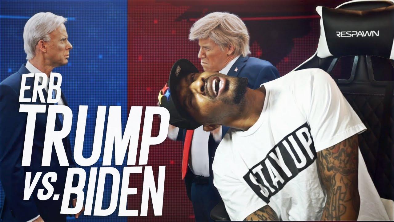 Donald Trump vs Joe Biden. Epic Rap Battles Of History (REACTION!!!)