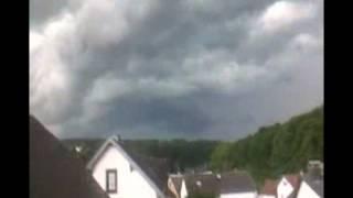 Unwetter über Kirschhofen - 5.7.2012