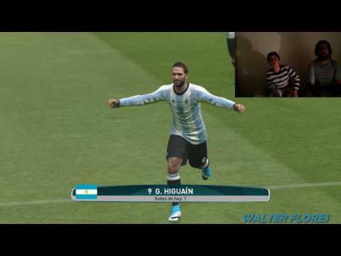 PES 17' - ARGENTINA VS BRASIL (VIDEO REACCIÓN)