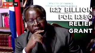 During a media briefing on 28 July 2021, Finance Minister Tito Mboweni said that the continuation of the R350 relief grant until March 2022 would come at a cost of R27 billion.  #FinanceDepartment #TitoMboweni #R350Grant