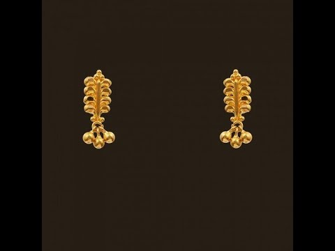 Latest Small Cute Light Weight Gold Earring Designs