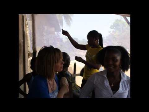 Kate Garraway chatting to entrepreneur Yawavi Tchegnon in Togo