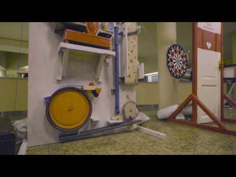 World's largest Rube Goldberg machine lights up Christmas tree