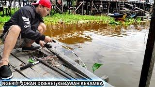 REKOR BARU MANCING IKAN TAWES PESTA STRIKE BERTUBI-TUBI JORAN DISERET KEBAWAH KERAMBA / FISH HUNTING