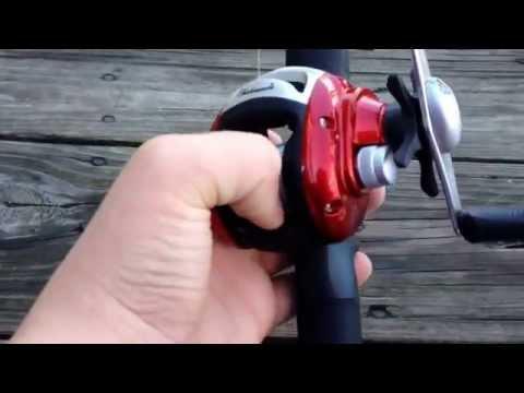 2 Piece Alpha Medium 6/' Low Profile Fishing Rod And Bait Cast Reel Combo
