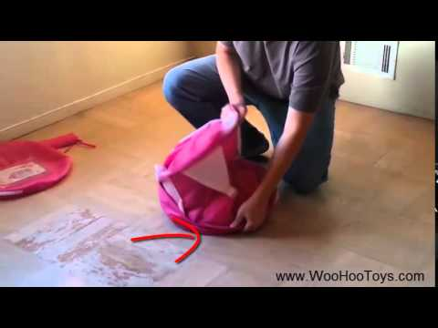 How to fold Princess Play Tent by WooHoo Toys