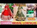 MEESHO WEDDING LEHENGAS HAUL #meesho #bridal #lehenga #meeshoweddinglehengahaul