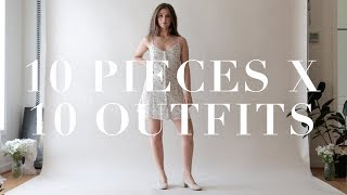 Chic Capsule Wardrobe Lookbook - 10 Outfits From 10 Pieces | Summer 10x10 Challenge | Dearly Bethany