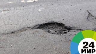В Воронеже яму во дворе дома запломбировали челюстями - МИР 24