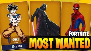 *NEW* 20 MOST WANTED FORTNITE BATTLE ROYALE OUTFITS !!